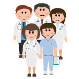 Doctors and nurses Royalty Free Stock Images