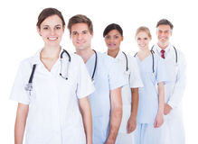 Doctors And Nurses In A Row Stock Photography