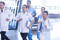 Doctors and nurses rushing for emergency Stock Photo