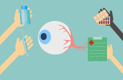 Doctors offer treatment for eyes Royalty Free Stock Image
