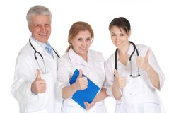 Doctors in office Stock Image
