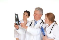 Doctors in office Royalty Free Stock Photo
