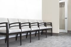 Waiting room chairs physicians office hospital room stock photography