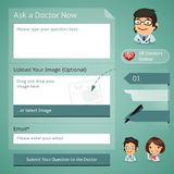 Doctors Online Consultation Form Stock Images
