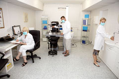 Doctors in ophthalmology clinic Royalty Free Stock Photo