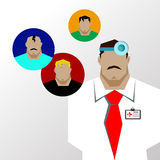 Doctors and other hospital staff. baby child doctor health illustration Stock Image