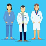 Doctors and other hospital staff stand together. Stock Photography