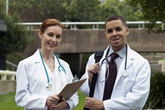 Doctors in the Park Stock Image