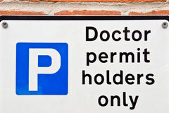 Doctors' parking Royalty Free Stock Photo