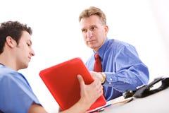 Doctors: Patient Unsure of Test Results Stock Images
