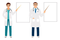 Doctors pointing on presentation board Stock Photography