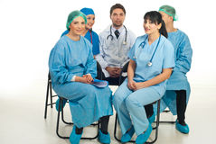 Doctors Preparing For Conference Royalty Free Stock Image