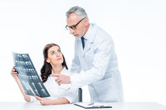 Doctors with x-ray image Stock Photo