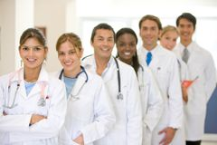 Doctors in a row Royalty Free Stock Photography