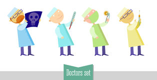 Doctors set Stock Images