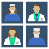 Doctors Set. Medical object flat icon. Vector Illustration. Royalty Free Stock Image