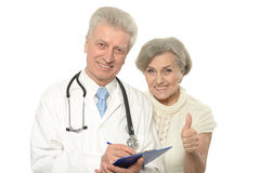 Doctors show thumbs up Stock Photo
