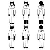 Doctors. Six models of doctors. It is a stick figure vector. EPS10 Royalty Free Stock Image