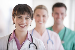 Doctors Smiling at Camera Royalty Free Stock Photography