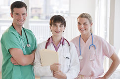 Doctors Smiling at the Camera Stock Photo
