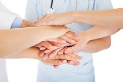 Doctors stacking hands Stock Image