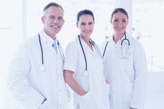 Doctors standing beside each other Royalty Free Stock Image