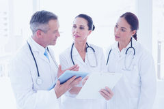 Doctors standing beside each other Royalty Free Stock Photo
