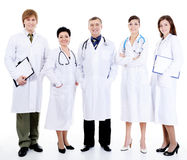 Doctors standing together in row Royalty Free Stock Photo