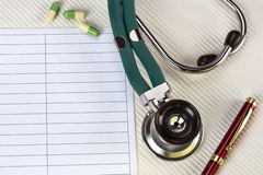Doctors Stethoscope - Space for Text royalty free stock photos