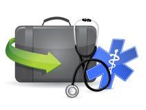 Doctors suitcase equipment Stock Photos