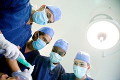 Doctors in a surgery Stock Image