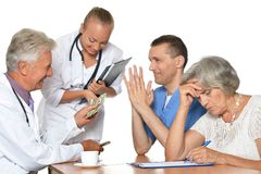 Doctors at the table Stock Image