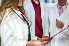 Doctors. Talking about a patient Royalty Free Stock Photo