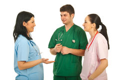 Doctors team communication Stock Images