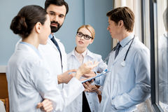 Doctors team discussing diagnosis Royalty Free Stock Image