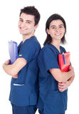 Doctors team holding folders Stock Image