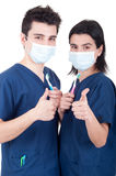 Doctors team thumbs up Royalty Free Stock Photography