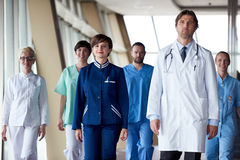 Doctors team walking Stock Photo