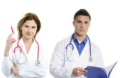 Doctors teamwork, health professional people Stock Photo