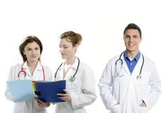 Doctors teamwork, health professional people Stock Image