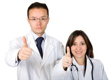 Doctors - thumbs up Royalty Free Stock Image