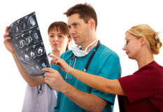 Doctors with tomogram Royalty Free Stock Images