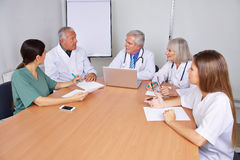 Doctors in a training seminar Stock Photos
