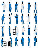 Doctors in uniform silhouettes Stock Image