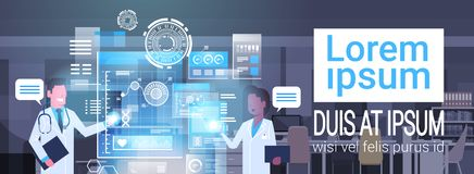 Doctors Using Virtual Computer Innovation Technology Concept Modern Medical Treatment Stock Images