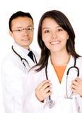 doctors vänligt barn Arkivfoton