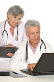 Doctors in white coats Royalty Free Stock Photo