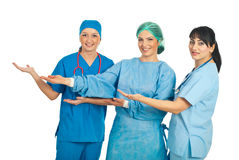 Doctors women presentation Stock Photography