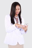 Doctors women who use smart phones Stock Photos