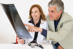 Doctors at work stock image